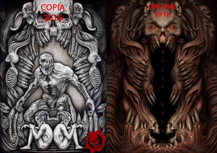 Al estilo Peña Nieto, ilustradora mexicana es acusada de plagio en póster para Gears of War