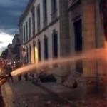 Confrontación estudiantil en la UABJO deja 11 detenidos y 5 lesionados