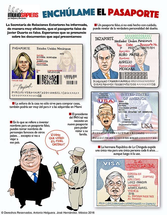 Enchúlame el pasaporte (Cartón Helguera y Hernández)