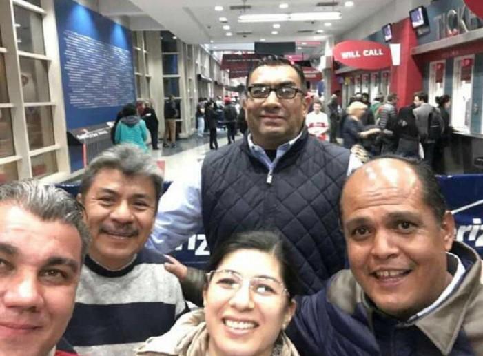 Viajan con cargo al erario a promover voto latino y terminan en partido de basquet