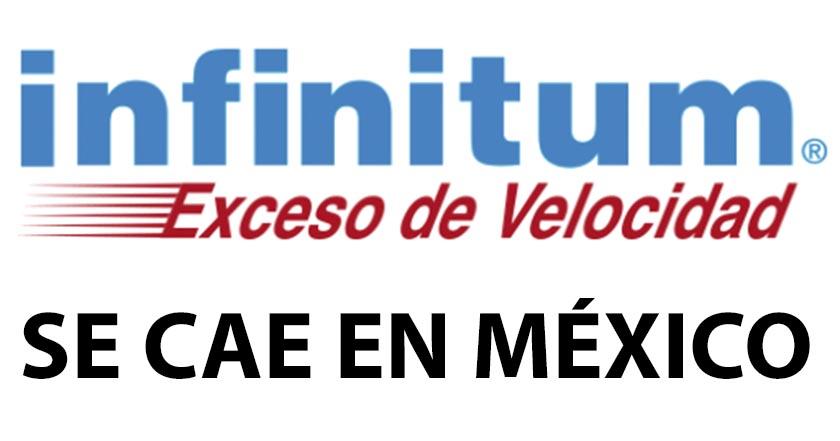 Usuarios reportan caída masiva de Infinitum en México