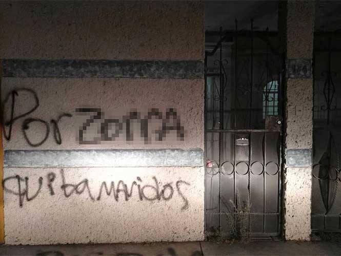 Con una pinta, reclaman a coordinadora del PAN en Hidalgo