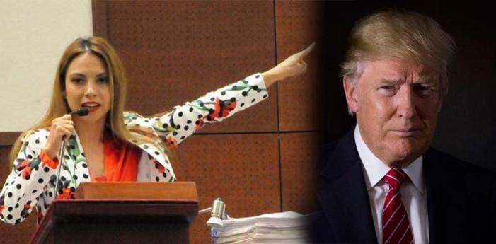 Diputada mexicana es nombrada Lady Trump por apoyar deportación