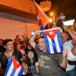 Cubanos en Miami festejan la muerte de Fidel Castro