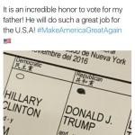 Hijo de Trump podría pasar un año en prisión por mostrar su voto