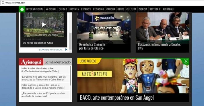 Reforma denuncia intento de hackeo; su sitio tiene liga a Aristegui Noticias