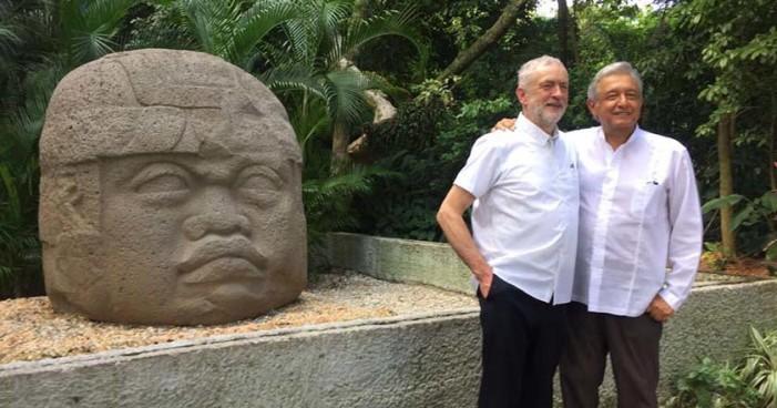 AMLO se reúne con dirigente del Partido Laborista del Reino Unido