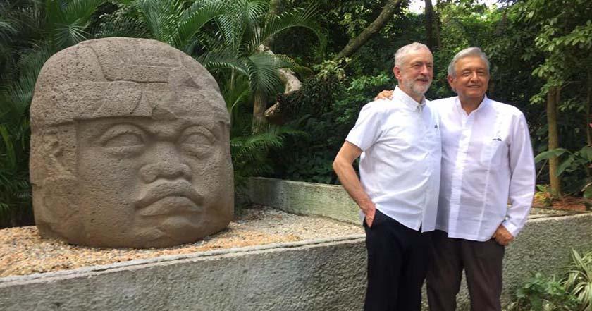 Andrés Manuel López Obrador AMLO Jeremy Corbyn dirigente Partido Laborista Reino Unido