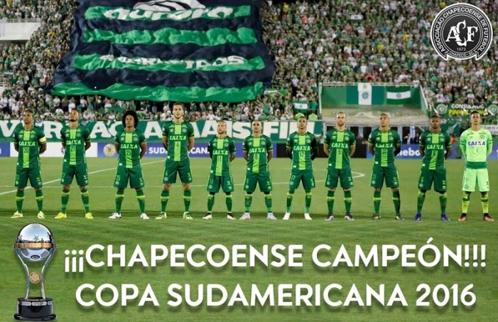 Otorgaron Copa Sudamericana al Chapecoense