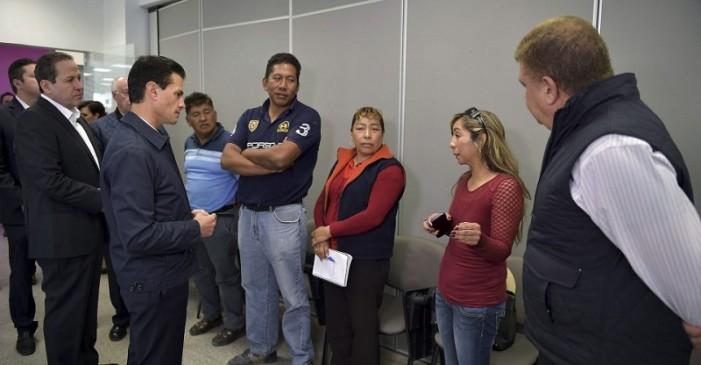 Peña promete recostruir el mercado de Tultepec, no habla de medidas de seguridad o responsables