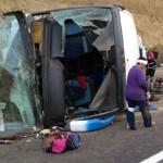 Accidente en carretera México-Puebla deja un muerto y 40 heridos