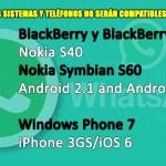 Mira los sistemas y teléfonos que no podrán tener WhatsApp en 2017