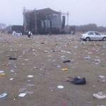 Asistentes de los XV de Rubí dejaron basurero en La Joya
