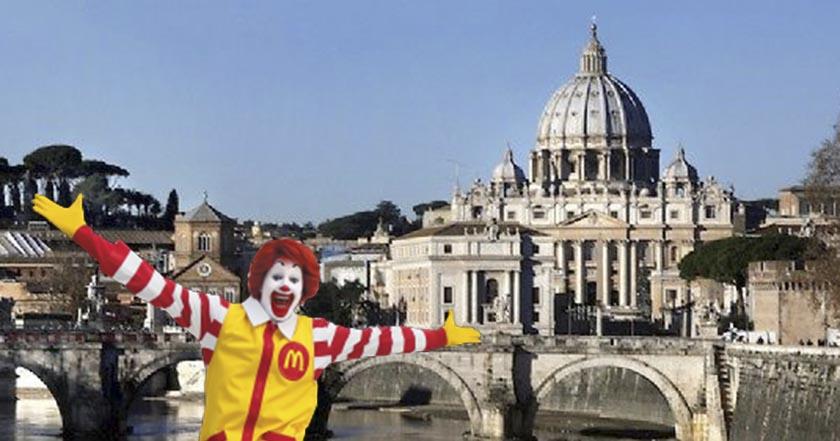 Abre McDonald's en edificio del Vaticano, provoca molestia t