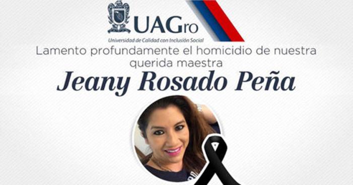Asesinan a catedrática y su familia en Guerrero