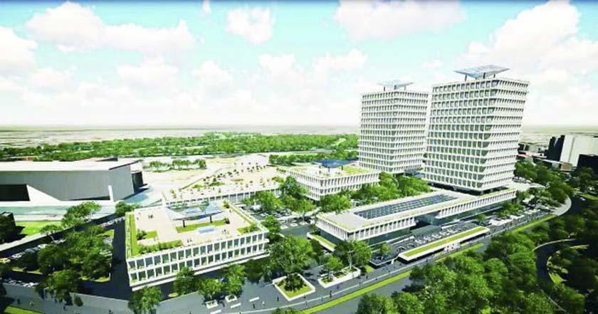 INE suspende construcción de sus 'torres gemelas'
