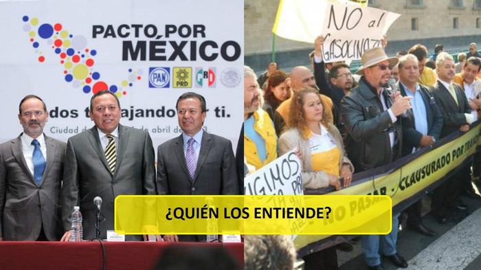 PRD se manifiesta contra gasolinazo, pese a ser cómplices de su aprobación