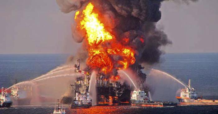 Se incendia plataforma petrolera en el Golfo de México