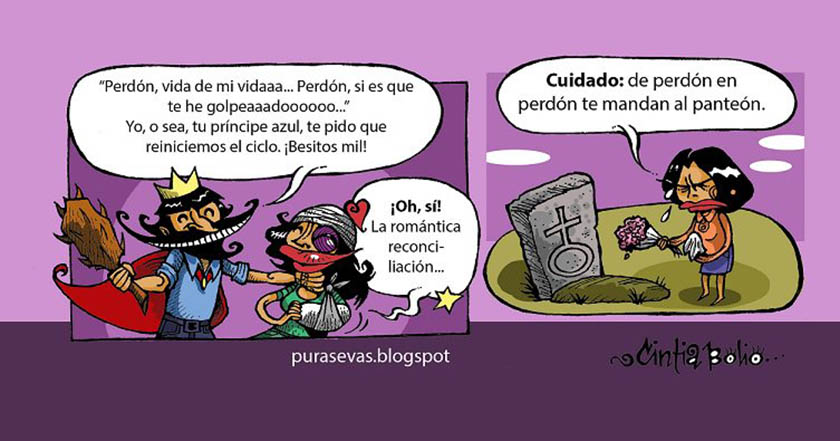 Violentada yo cómic sobre violencia de género por Cintia Bolio