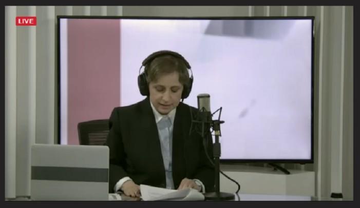 Ya se escucha y ve a Aristegui en su nuevo programa en vivo (aquí la liga)