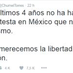 Chumel se lanza contra las protestas y la libertad de expresión