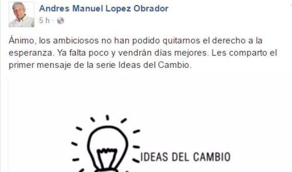 """AMLO lanza campaña """"Ideas del Cambio"""" (Video)"""