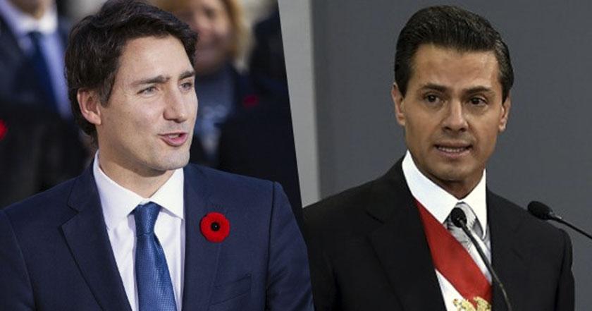 justin trudeau enrique peña nieto canadá méxico tlcan norteamérica donald trump