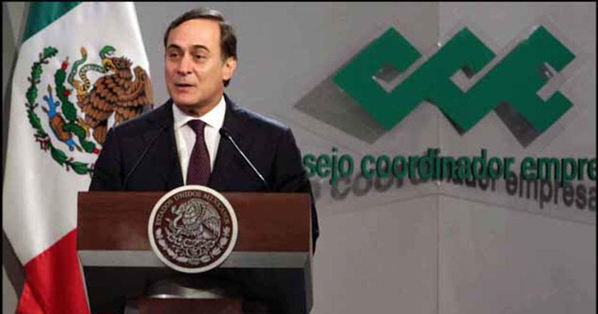 presidente del Consejo Coordinador Empresarial (CCE), Juan Pablo Castañón gasolinazo