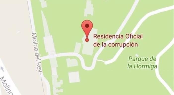 """Renombran a Los Pinos """"Residencia Oficial de la Corrupción"""" en Google Maps"""