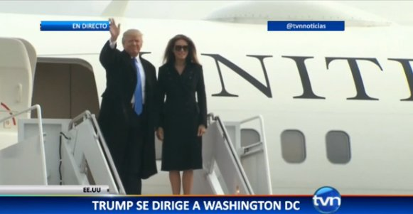 Donald Trump llega a Washington (En VIVO)