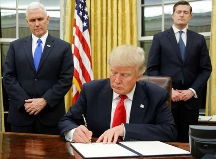 'Vamos a construir el muro antes de lo previsto': Trump