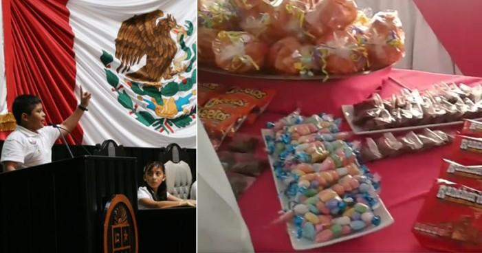Frituras, chocolate, pan: lo que comerán niños en visita al INE (Video)