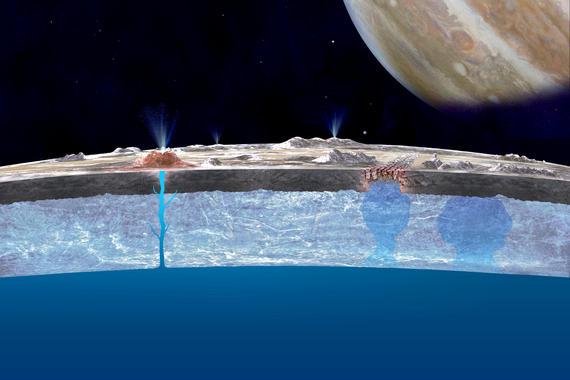 Nasa quiere buscar vida en Europa, satélite de Júpiter