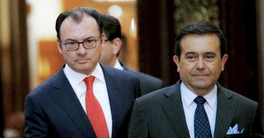 Luis Videgaray canciller secretaría de relaciones exteriores, Ildefonso Guajardo secretario de economía