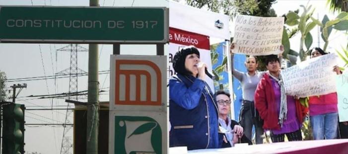 Hostigan a activistas que se oponen a privatización en Metro Constitución