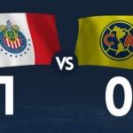 Chivas derrota 1-0 al América en el 'clásico'