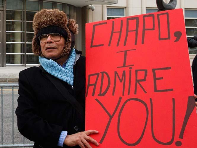 """""""Fans"""" del Chapo le muestran su apoyo en EU"""
