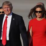 Trump rechaza ir con Melania de la mano (Video)