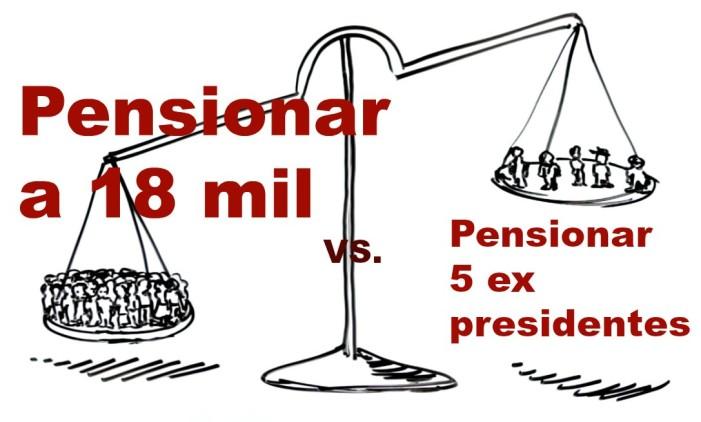 Cancelar pensiones a expresidentes para pensionar a 18 mil mexicanos. AMLO