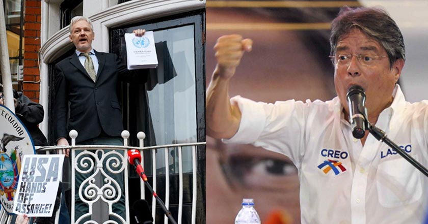 julian assange fundador wikileaks ecuador londres guillermo lasso