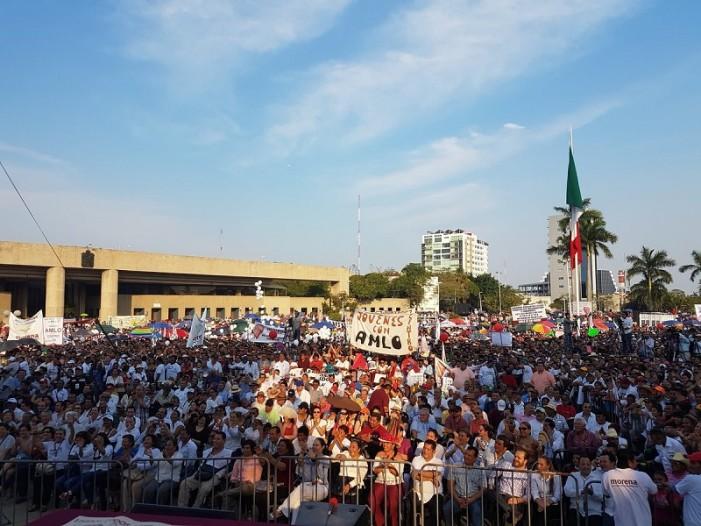 Pese a intento de boicot, AMLO reune a multitud en Tabasco