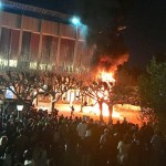 Reportan motín en Universidad Berkeley en EU (VIDEOS)