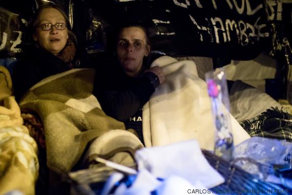 17 días en huelga de hambre en Madrid: mujeres contra violencia machista