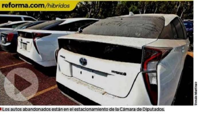 Diputados pagaron millonaria renta de autos híbridos… que no usan