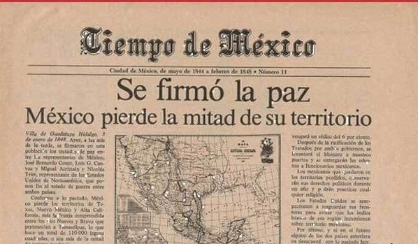 2 Febrero 1848, México pierde parte de su territorio a manos de EU