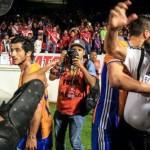 Enfrentamiento entre aficionados de Los Tigres y Tiburones