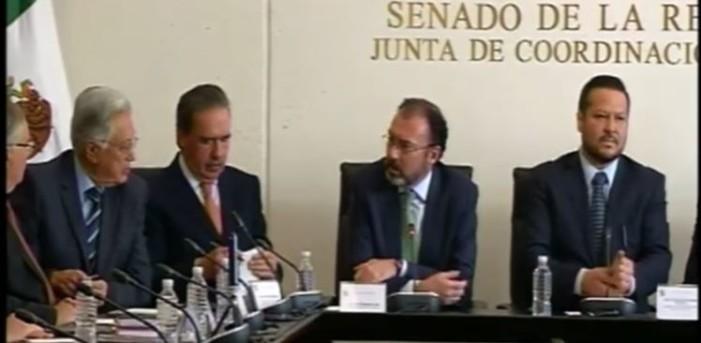 Videgaray comparecerá en el Senado sobre política hacia EU