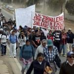 Los jornaleros de San Quintín, BC, protestan en la Ciudad de México