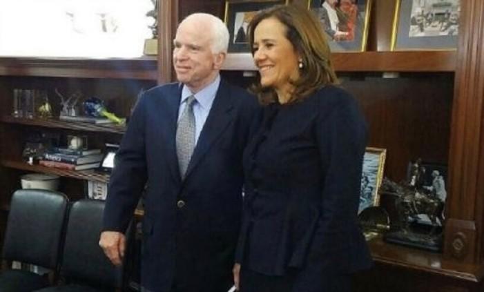 Margarita Zavala pide a Trump intervencionismo en elección de 2018