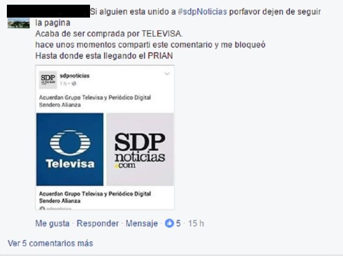 Televisa compró a SDP Noticias porque está desesperada: Jenaro Villamil